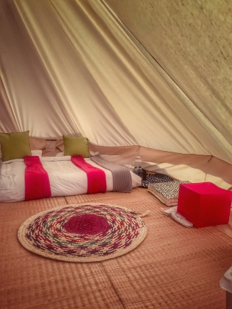 this traditional bell tent is a 6-meter