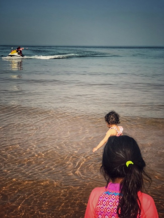 can you see Kid 1 and his Daddy on the jet ski